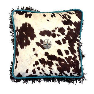 Cowhide Throw Pillow Color: Brown