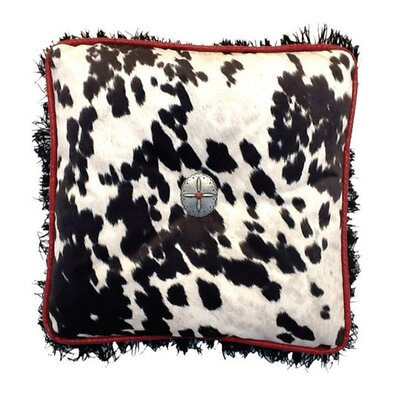 Cowhide Throw Pillow Color: Black