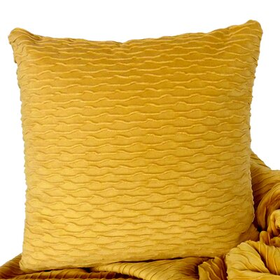 Ripple Throw Pillow Color: Canary / Yellow