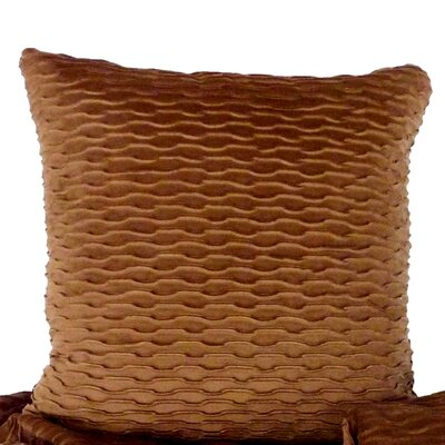 Ripple Throw Pillow Color: Hazenut / Brown