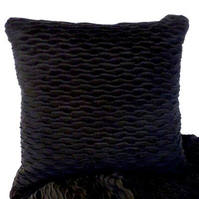 Ripple Throw Pillow Color: Onyx / Black