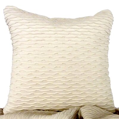 Ripple Throw Pillow Color: Ivory / White
