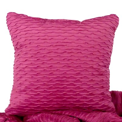 Ripple Throw Pillow Color: Orchid / Purple