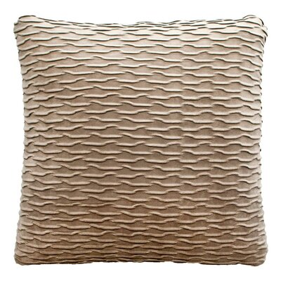Ripple Throw Pillow Color: Dove / Silver