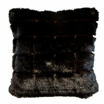 Adele Throw Pillow Color: Black
