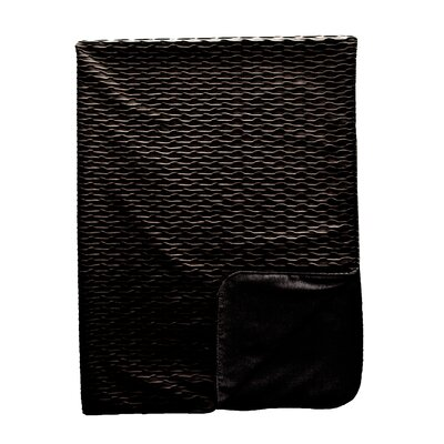 Ripple Throw Blanket Color: Onyx / Black