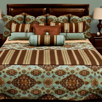 Kensington Coverlet Set Color: Teal, Size: Twin