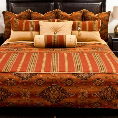 Kensington Coverlet Set Color: Rust, Size: Queen