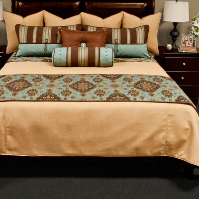 Kensington Bed Runner Size: King, Color: Teal