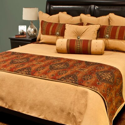 Kensington Bed Runner Color: Rust, Size: King