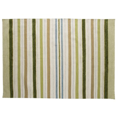 Panama Green Contemporary Rug Rug Size: 56 x 710