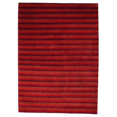 Visby Red Contemporary Rug Rug Size: 66 x 99