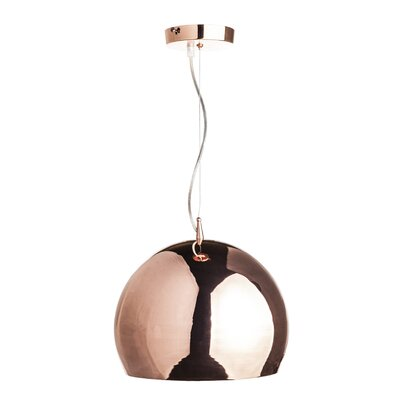 Fort Knox 1-Light Mini Pendant Finish: Gold