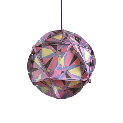 Como 1-Light Globe Pendant Shade Color: Pink