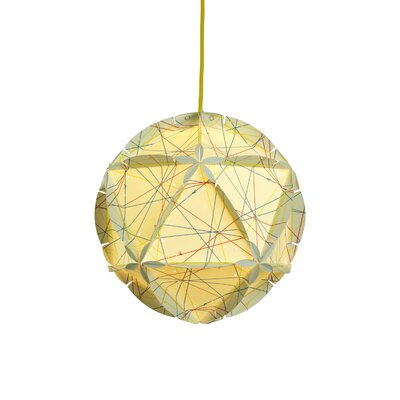 Como 1-Light Globe Pendant Color: White