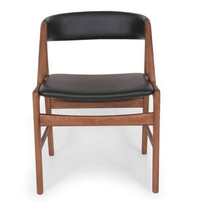 Soen Genuine Leather Upholstered Dining Chair