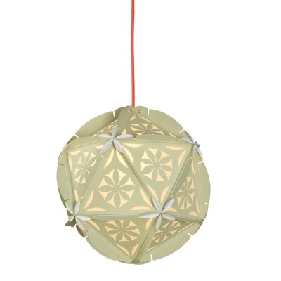 Como 1-Light Globe Pendant Shade Color: Beige