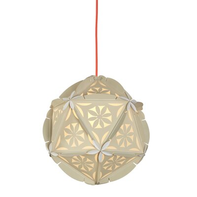 Como 1-Light Globe Pendant Shade Color: Nude