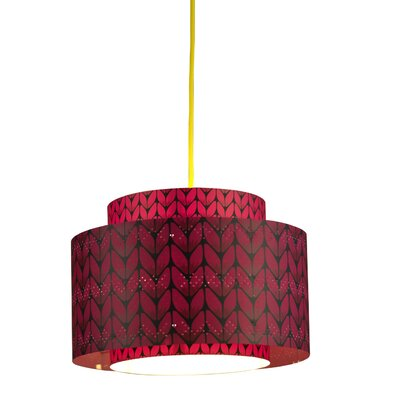 Venlo 1-Light Drum Pendant Shade Color: Fuchsia