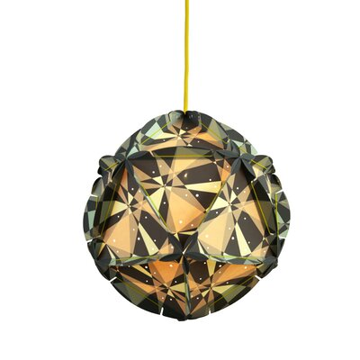 Como 1-Light Globe Pendant Shade Color: Grey