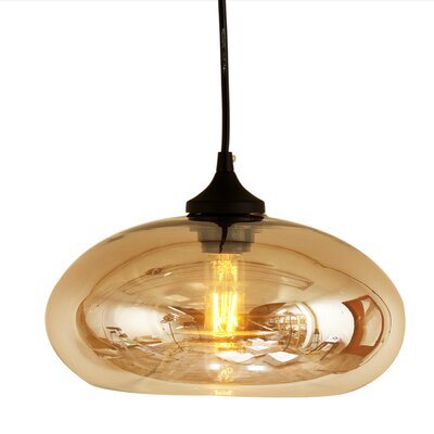 Bodo 1-Light Pendant Shade Color: Brown Tint