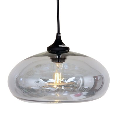 Bodo 1-Light Pendant Shade Color: Grey Tint