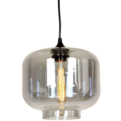 Bergen 1-Light Pendant Shade Color: Grey Tint