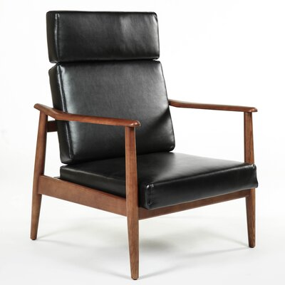 Aalborg High Back Chair Color: Black