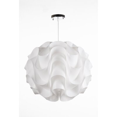 Clarinda Wave 1-Light Globe Pendant Size: 13.75