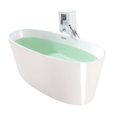 True Solid Surface Vinyasa 62.25 x 27.5 Soaking Bathtub Finish: Glossy White