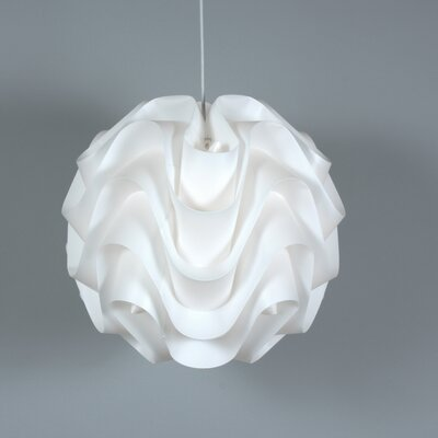 Clarinda Wave 1-Light Globe Pendant Size: 21.63