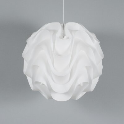 Clarinda Wave 1-Light Globe Pendant Size: 16.54