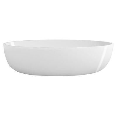 True Solid Surface Zen 67 x 31.5 Soaking Bathtub Finish: Glossy White