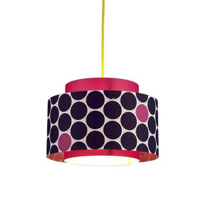 Venlo 1-Light Drum Pendant Color: Berry