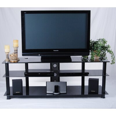 "60"" TV Stand Color: Black U2E-241CL"