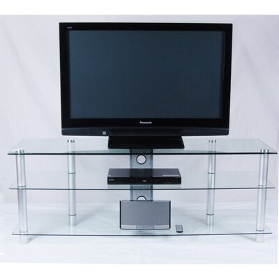 "60"" TV Stand Color: Clear Glass U2E-241"