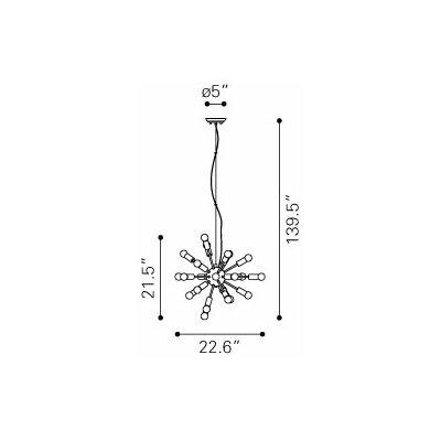Pulsar 24-Light Sputnik Chandelier