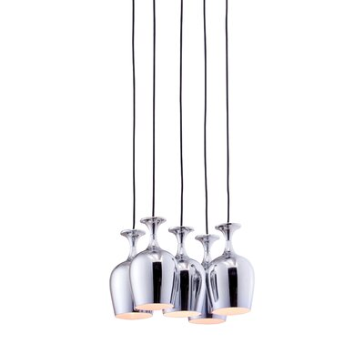 Ice 5-Light Cluster Pendant
