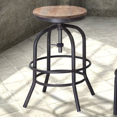 Howe Adjustable Height Swivel Bar Stool