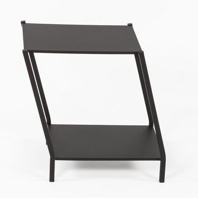 Wiggle End Table Finish: Black