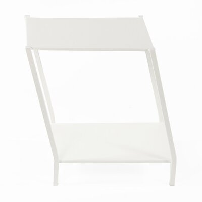 Wiggle End Table Color: White
