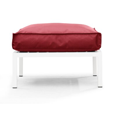 Copacabana Ottoman with Cushion Fabric: Red