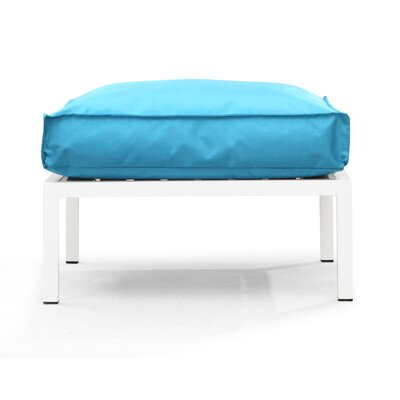 Copacabana Ottoman with Cushion Fabric: Turquoise