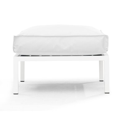 Copacabana Ottoman with Cushion Fabric: White