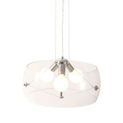 Asteroids 3-Light Drum Pendant Shade Color: Clear