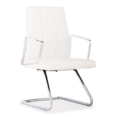Controller Low Back Guest Chair Color: White