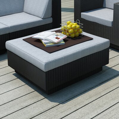 Park Terrace 5 Piece Seating Group with Cushions Finish: Black