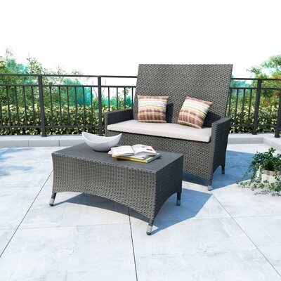 Cascade 2 Piece Lounge Seating Group with Cushions