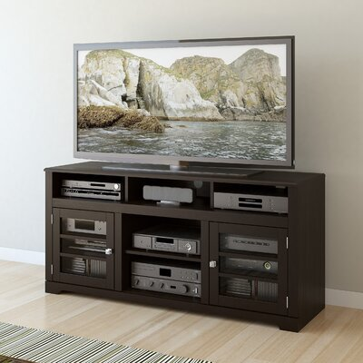 West Lake 60 TV Stand with Optional Fireplace Finish: Mocha Black, Fireplace Included: Yes