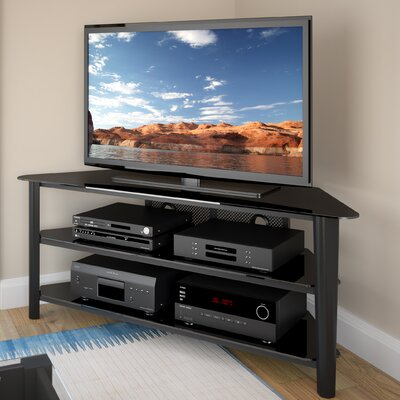 Alturas Corner 60 TV Stand Color: Black Stained